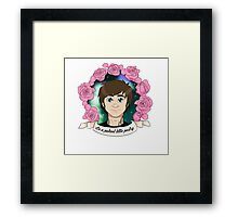 """GREG PETERSON: """"Be a patient little pastry"""" Framed Print"""