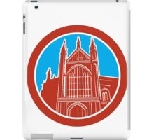 Winchester Cathedral Woodcut Retro iPad Case/Skin
