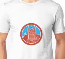 Winchester Cathedral Woodcut Retro Unisex T-Shirt