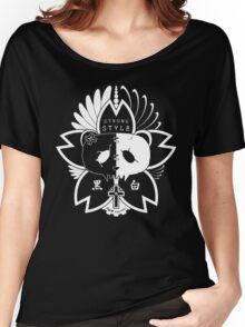 Panda Paw Paw Sakura T-Shirt Design (White) Women's Relaxed Fit T-Shirt