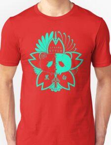 Panda Paw Paw Sakura T-Shirt Design (Turquoise) Unisex T-Shirt