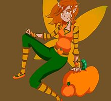 Pumpkin Faery by RedVioletShirts