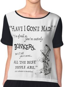 Alice in Wonderland Quote Chiffon Top