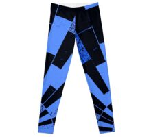 Black and Blues, bricks pattern Leggings