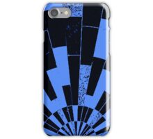 Black and Blues, bricks pattern iPhone Case/Skin