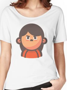 Mini Characters - Angry Girl Women's Relaxed Fit T-Shirt