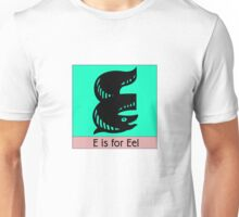 Eel Animal Alphabet Unisex T-Shirt
