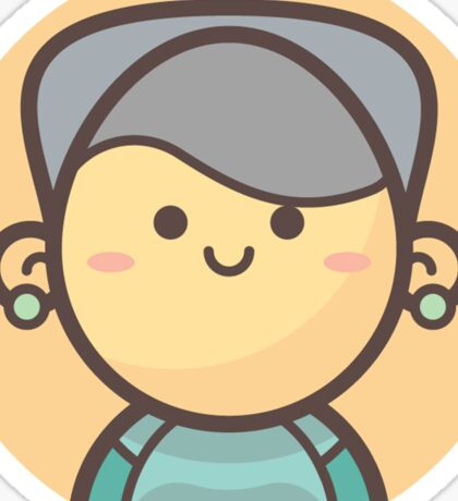 Mini Characters - Old Lady 4 Sticker