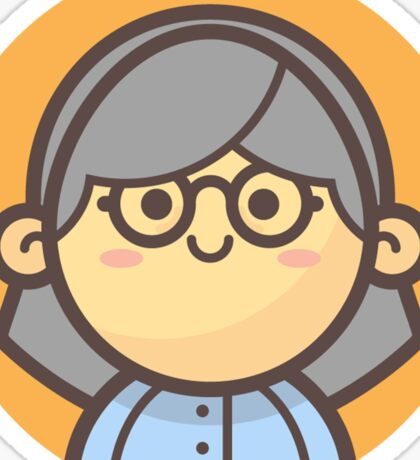Mini Characters - Old Lady 3 Sticker