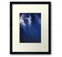 Clouds Over the Gulf of California, Mexico Satellite Image   Framed Print