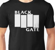 Flag of the Black Gate (White) Unisex T-Shirt