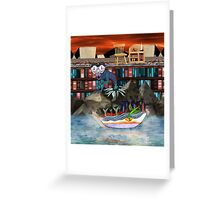 Books are just words on paper until your imagination gives them wings Greeting Card
