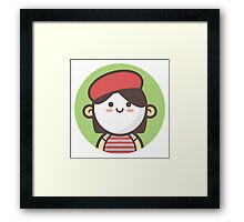 Mini Characters - Mime Girl Framed Print