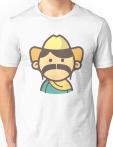 Mini Characters - Big Mustache Mexican Man Unisex T-Shirt