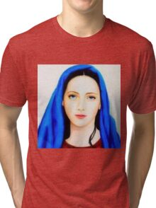 Mother Mary,mother of Jesus Christ,mother of God,St.Mary,beautiful mother Mary,Faith,catholic,christian Tri-blend T-Shirt