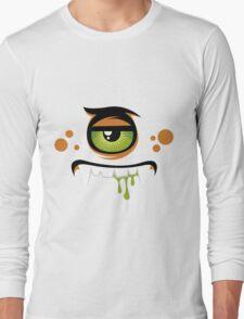 Cartoon expression monster Long Sleeve T-Shirt