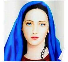 Mother Mary,mother of Jesus Christ,mother of God,St.Mary,beautiful mother Mary,Faith,catholic,christian Poster