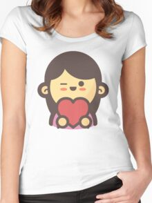 Mini Characters - In-Love Woman Women's Fitted Scoop T-Shirt