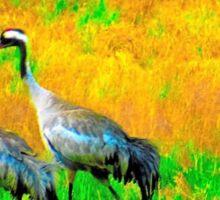2 Cranes . Sticker