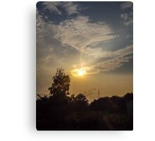 orange sunset Canvas Print