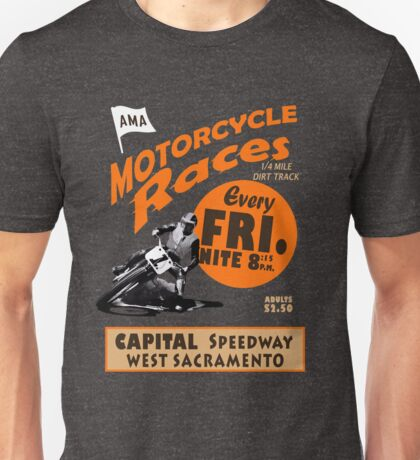 Motorcycle Speedway Races - West Sacramento Unisex T-Shirt