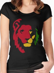 Lion Rasta Reggae Women's Fitted Scoop T-Shirt