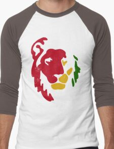 Lion Rasta Reggae Men's Baseball ¾ T-Shirt