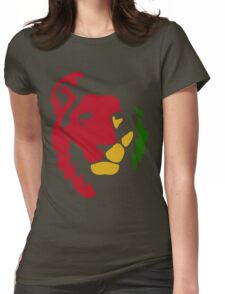 Lion Rasta Reggae Womens Fitted T-Shirt