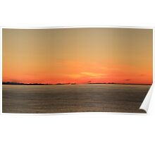 The Minch at Sunset Poster