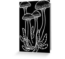 Shrooms in White Greeting Card