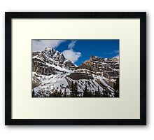 June Sun on the Snow-Capped Canadian Rockies Framed Print