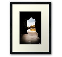 Natural Cave Framed Print