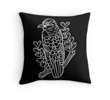 Diderick Cuckoo in White Throw Pillow