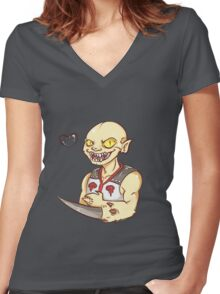 MK9 Baraka  Women's Fitted V-Neck T-Shirt