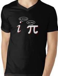 Be Rational Get Real Funny Math Tee Pi Nerd Nerdy Geek Mens V-Neck T-Shirt