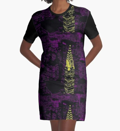 Chrysler Building Graphic T-Shirt Dress