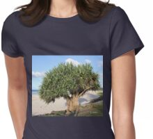 Cabbage Tree at Byron Bay Beach Womens Fitted T-Shirt