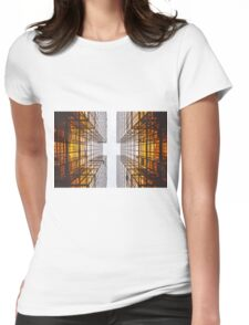 yellow skyscraper Womens Fitted T-Shirt