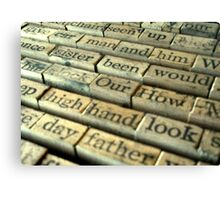 """ Old Stamping Kit "" Canvas Print"