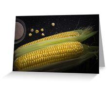 Organic raw corn and salt Greeting Card