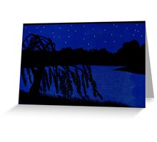 Lakeside Willow Greeting Card