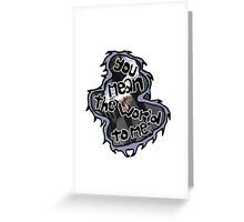 fan girl- ghost town Greeting Card
