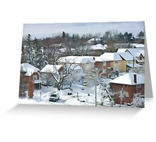 The Morning after a Big Snowstorm in Toronto, ON, Canada Greeting Card