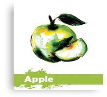 illustration of fruit apple Canvas Print