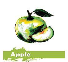 illustration of fruit apple Photographic Print