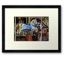 Carousel in Nice, France Framed Print