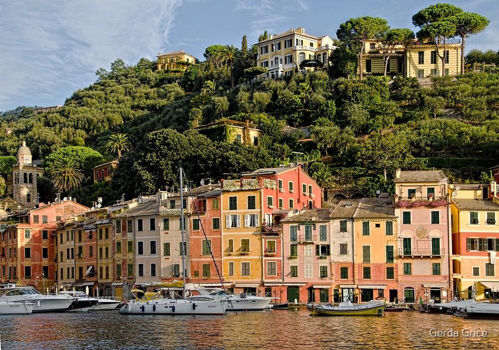 Portofino, Italy on a Bright, Sunny Day by Gerda Grice