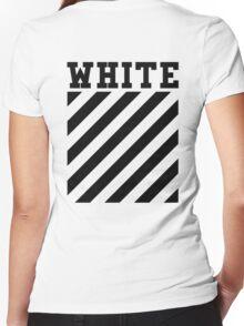 Off White Women's Fitted V-Neck T-Shirt