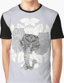 Elephant Bird Hybrid Mandala Blue Graphic T-Shirt
