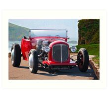 1930 Ford Model A Roadster Art Print